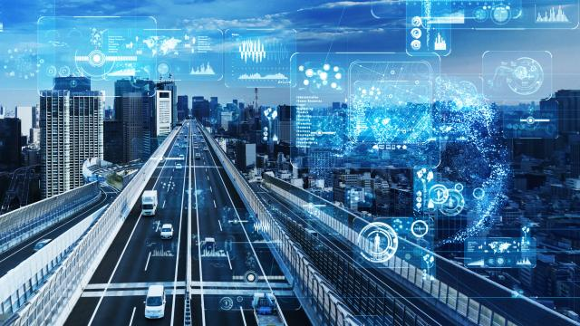 Modern city image with IoT and data ©metamorworks - iStock